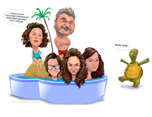 caricatura de grupo. group caricature