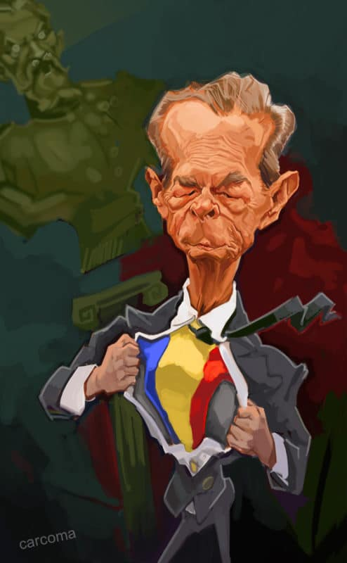 King Michael of Romania caricature