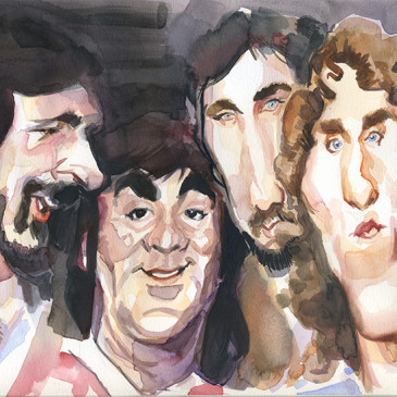 Caricatura en acuarela. The Who