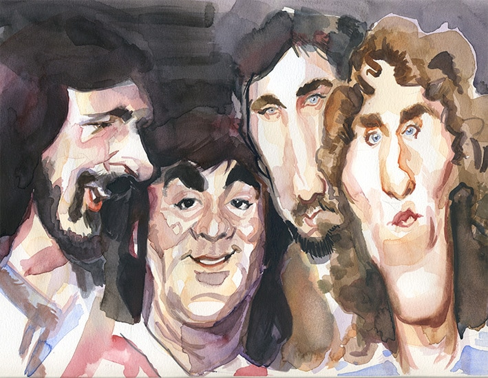 caricatura acuarela the Who