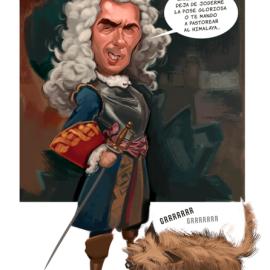 Caricatura de personajes ilustres.