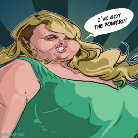 Rebel Wilson caricature