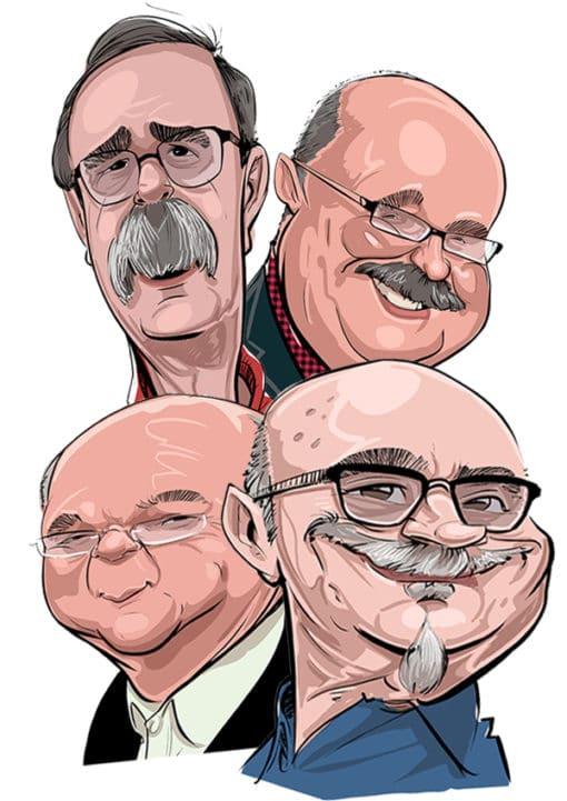 Caricatura comic 4 personas